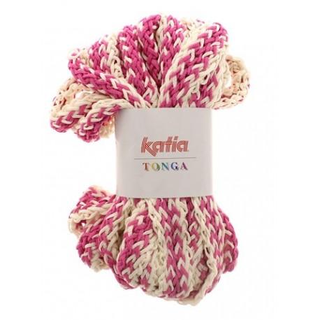 KATIA TONGA 304 CRUDO-FUCSIA (100 gr.)