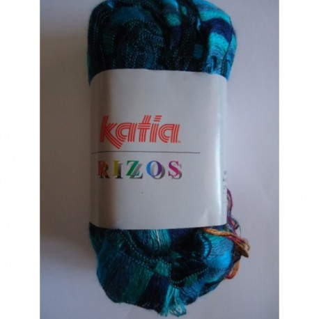 KATIA RIZOS TURQUESA-VERDE 96 (100 gr. 1 bufanda)