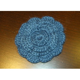 BROCHE FLOR RELIEVE GANCHILLO COLOR A ELEGIR