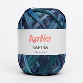 """KATIA RAPHIA """"WOOD PULPE"""" 57 AZULES"""