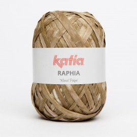"AGOTADO: KATIA RAPHIA ""WOOD PULPE"" 50 BEIGES"