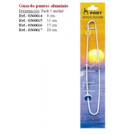IMPERDIBLE PARA GUARDAR PUNTOS DE ALUMINIO 17 cm.  PONY