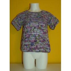 TOP MANGA CORTA PUNTO BOBO-PUNTO LARGO KATIA TAHITI, (elegir color y talla de 4 a 10 años, precio talla 6 a 8 años)