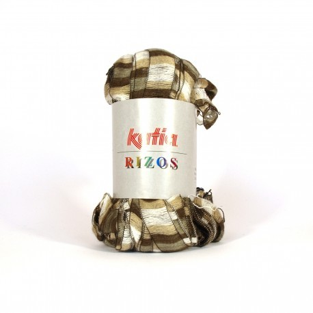 KATIA RIZOS 91 BEIGE-CREMA-MARRON (100 gr.: 1 bufanda)